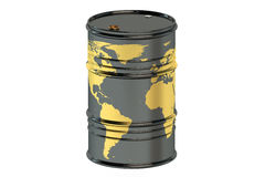Oil barrel. Isolated on white background royalty free illustration