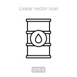 Oil barrel. Linear icon. Icon of the oil barrel in a linear style royalty free illustration