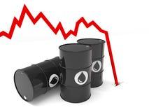 Oil barrel multiple Stock Photo