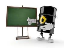 Oil barrel. With chalkboard on white background vector illustration