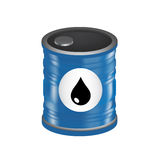 Oil barrel with oil drop sign isolated on white. Background stock illustration