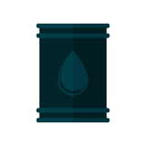 Oil barrel petroleum drop icon. Illustration eps 10 stock illustration