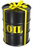 Oil barrel present royalty free illustration