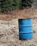 Oil barrel in rural Alaska Stock Photo