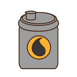 Oil barrel tank isolated icon. Vector illustration design royalty free illustration