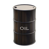 Oil. Barrel of oil on white background with clipping path Stock Image