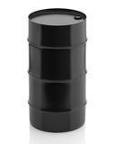 Oil barrel  on white background. 3d render Royalty Free Stock Photo
