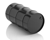 Oil barrel  on white background Stock Photography