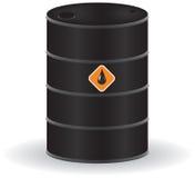 Oil barrel. On white background. Vector illustration stock illustration