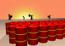 Oil barrels Royalty Free Stock Photo