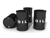 Oil barrels vector illustration