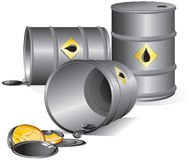 Oil barrels. (vector available -separated objects stock illustration