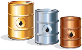 Oil barrels royalty free stock image