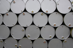Oil Barrels. New barrels of oil in the plant Royalty Free Stock Photo