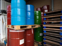 Oil barrels Royalty Free Stock Photos