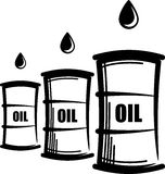 Oil barrels. Simple illustration with oil barrels vector illustration