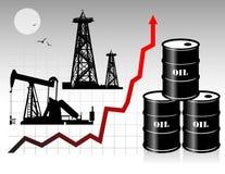Oil barrels Royalty Free Stock Photos