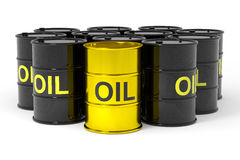 Oil barrels. Royalty Free Stock Photography