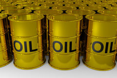 Oil barrels. Royalty Free Stock Images