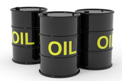 Oil barrels. Royalty Free Stock Photos