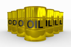 Oil barrels. Royalty Free Stock Image