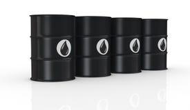 Oil barrels Stock Images