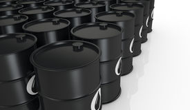 Oil barrels Stock Photo