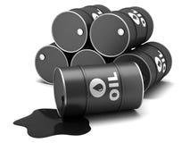 Oil barrels. On a white background stock illustration