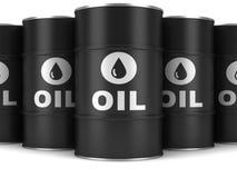 Oil barrels. On a white background vector illustration