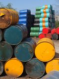 Oil barrels Stock Photos