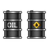 Oil barrels Stock Images