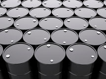 Oil Barrels Background Stock Photography