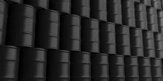 Oil barrels background. 3d illustration Stock Photography