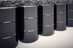 Oil barrels. Royalty Free Stock Photo