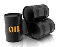 Oil barrels 3d illustration Royalty Free Stock Photo