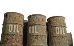 Oil barrels. 3d illustration of oil barrels on white background royalty free illustration