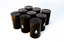 Oil barrels. 3d image of oil barrels with white background Royalty Free Stock Photo