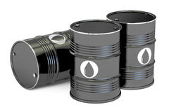 Oil barrels, 3D rendering Stock Photography