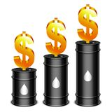 Oil Barrels and Dollar Stock Photos