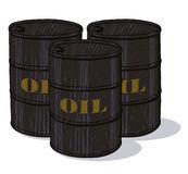 Oil barrels illustration Stock Photo