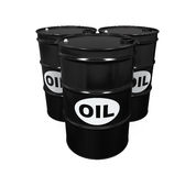 Oil Barrels Isolated Royalty Free Stock Images