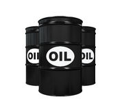 Oil Barrels Isolated Stock Photography