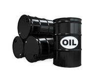 Oil Barrels Isolated Royalty Free Stock Image