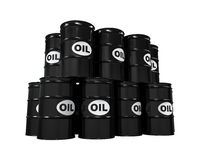 Oil Barrels Isolated. On white background. 3D render Royalty Free Stock Photos