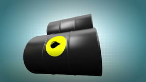 Oil barrels. Loop-ready. stock video footage