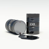 Oil barrels of oil spills. Background Stock Photography