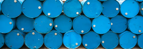 Oil Barrels Or Chemical Drums Stock Photography