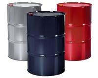 Oil Barrels set. Royalty Free Stock Photos