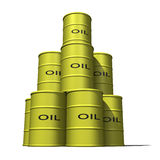 Oil Barrels stacked 2 Royalty Free Stock Photo