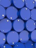 Oil Barrels Stacked Up. Stock Images